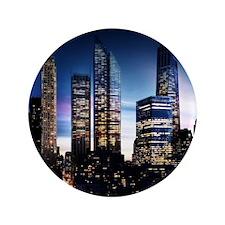 City Skyline at Night Button