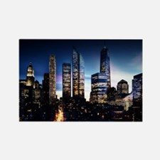 City Skyline at Night Magnets