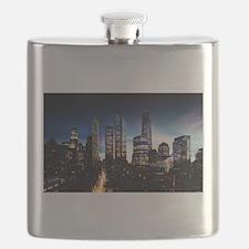 City Skyline at Night Flask
