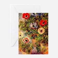 Anemone by Monet Greeting Card
