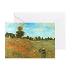 Poppies by Monet Greeting Card
