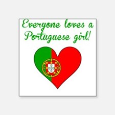 Everyone Loves A Portuguese Girl Sticker