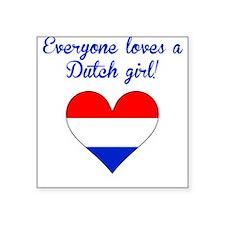 Everyone Loves A Dutch Girl Sticker