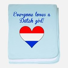 Everyone Loves A Dutch Girl baby blanket