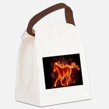 Fire Horse Canvas Lunch Bag