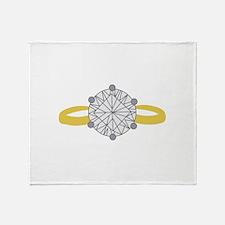 Diamond Ring Throw Blanket