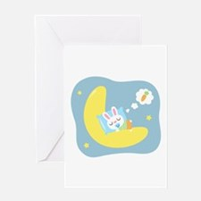 Sweet Dreams Cute Bunny Dreamland for Kids Greetin