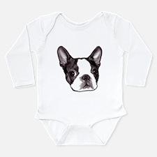 Funny Boston puppy Long Sleeve Infant Bodysuit