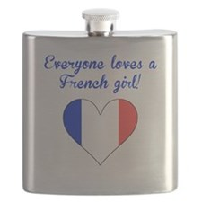 Everyone Loves A French Girl Flask
