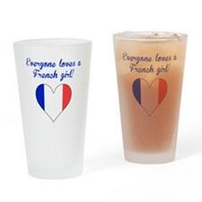 Everyone Loves A French Girl Drinking Glass