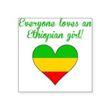 Everyone Loves An Ethiopian Girl Sticker