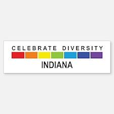 INDIANA - Celebrate Diversity Bumper Car Car Sticker