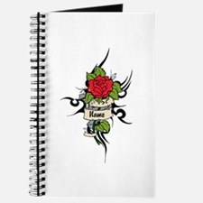 Customized Rose on Tattoo Background Journal