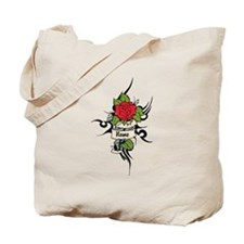 Customized Rose on Tattoo Background Tote Bag