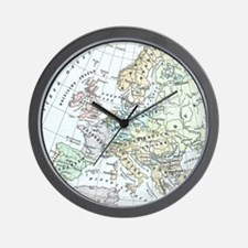 Vintage Map of Europe (1899) Wall Clock