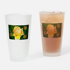 Beautiful Yellow and Red Roses Drinking Glass