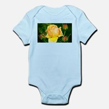 Beautiful Yellow and Red Roses Body Suit