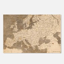 Vintage Map of Europe (18 Postcards (Package of 8)
