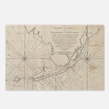 Vintage Map of The Florid Postcards (Package of 8)