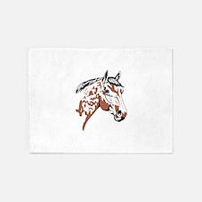 Horse Head Profile 5'x7'Area Rug