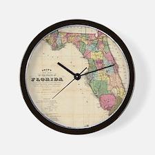 Vintage Map of Florida (1870) Wall Clock