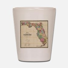 Vintage Map of Florida (1870) Shot Glass