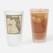Vintage Map of Florida (1870) Drinking Glass
