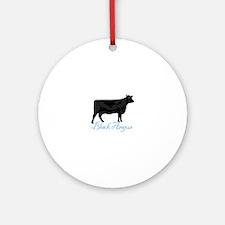 Black Angus Ornament (Round)