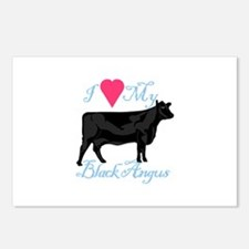 I Love My Black Angus Postcards (Package of 8)