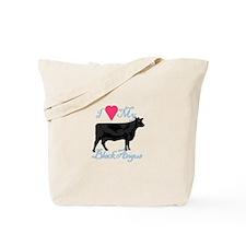 I Love My Black Angus Tote Bag