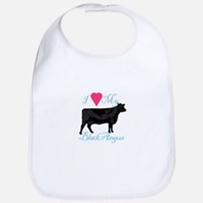 I Love My Black Angus Bib