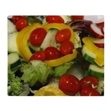 Fresh Garden Salad Throw Blanket