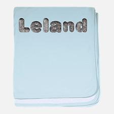 Leland Wolf baby blanket