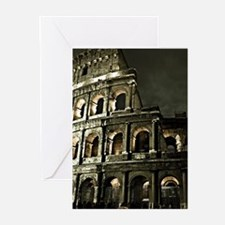 Coliseum At Night Greeting Cards