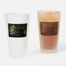 Coliseum At Night Drinking Glass