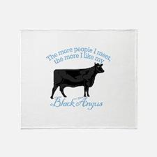 Black Angus Throw Blanket