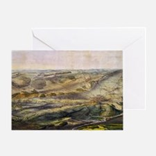Vintage Map of The Gettysburg Battle Greeting Card