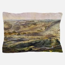 Vintage Map of The Gettysburg Battlefi Pillow Case