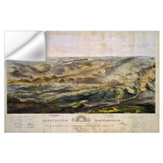 Vintage Map of The Gettysburg Battlefield (1863) Wall Decal