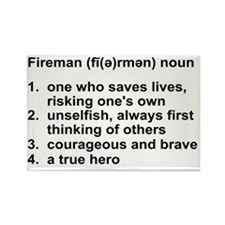 FIREMAN DEFINITION Rectangle Magnet