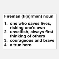 FIREMAN DEFINITION Postcards (Package of 8)