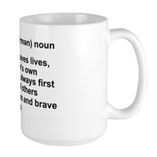 FIREMAN DEFINITION Ceramic Mugs