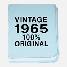 Vintage 1965 Birthday Designs baby blanket
