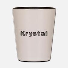 Krystal Wolf Shot Glass