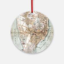 Vintage Map of Halifax Nova Scotia  Round Ornament