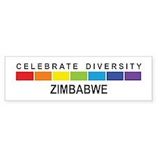ZIMBABWE - Celebrate Diversit Bumper Bumper Sticker