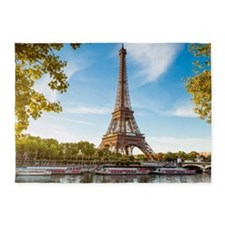 Eiffel Tower 5'x7'Area Rug