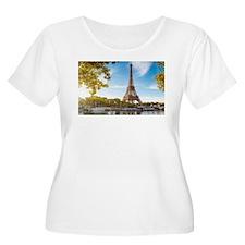 Eiffel Tower Plus Size T-Shirt