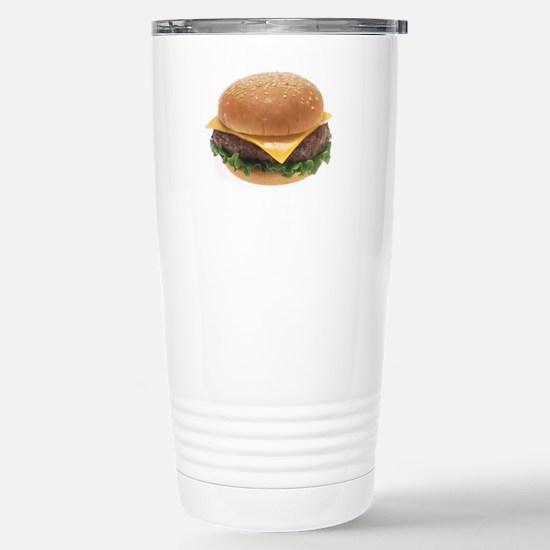 Cheeseburger Stainless Steel Travel Mug