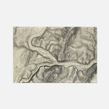 Vintage Map of Harpers Ferry (186 Rectangle Magnet